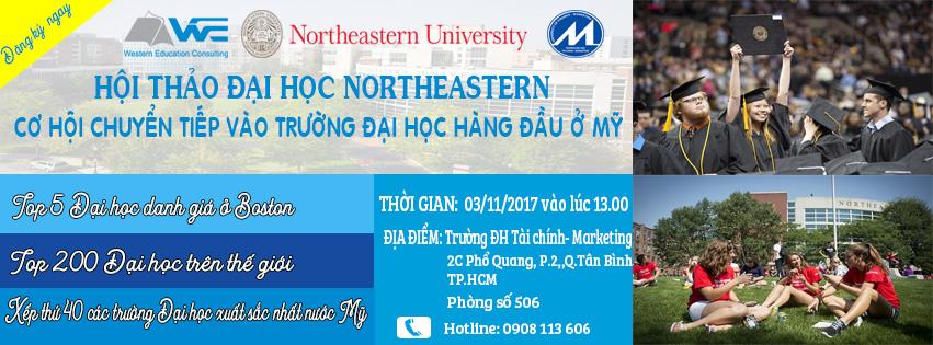 Hội thảo Đại học Northeastern- Cơ hội chuyển tiếp vào trường Đại học hàng đầu ở Mỹ