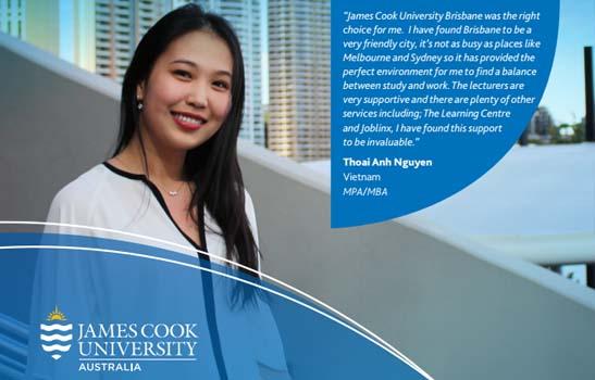 Học bổng hấp dẫn từ Đại học James Cook 2018 - campus Brisbane